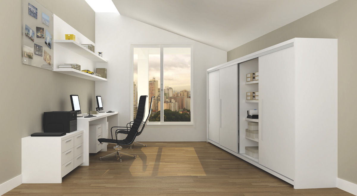 Criart Móveis Sobmedida ~ Quarto Planejado Com Home Office